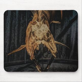 Gothic sea creature skeleton mouse pad