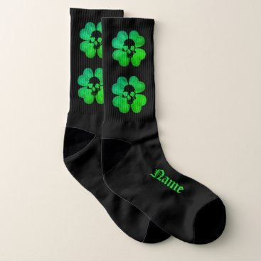 Halloween Themed Gothic shamrock large socks