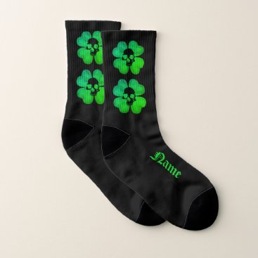 Halloween Themed Gothic shamrock small socks