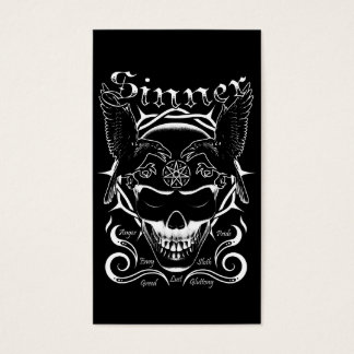 Gothic Sinner Skull Business Card