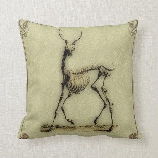 Gothic Skeletal Deer Throw Pillow