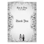 Gothic Skeleton Bride & Groom Thank You Card