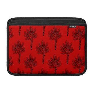 Gothic Skeleton Flower Pattern Art Sleeve For MacBook Air
