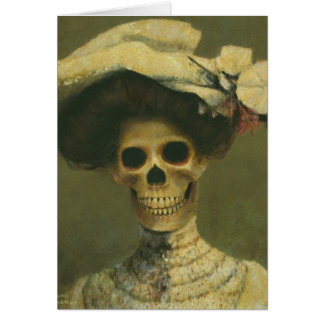 Gothic Skeleton Lady Greetings Card