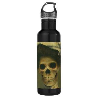 Gothic Skeleton Lady Liberty Bottle 24oz Water Bottle