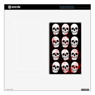 Gothic Skeletons On Black Background Decals For Kindle Fire