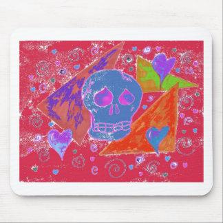 Gothic Skul pink orange carmine Mouse Pad