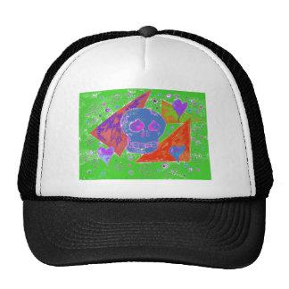 Gothic Skul pink orange poison Trucker Hat