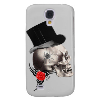 Gothic skull and rose tattoo style galaxy s4 cover