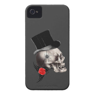 Gothic skull and rose tattoo style iPhone 4 Case-Mate case