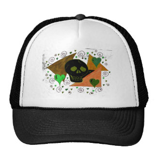 Gothic Skull black inverted Trucker Hat