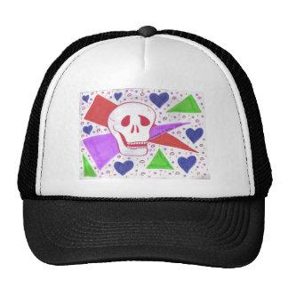 Gothic Skull blue heart Trucker Hat