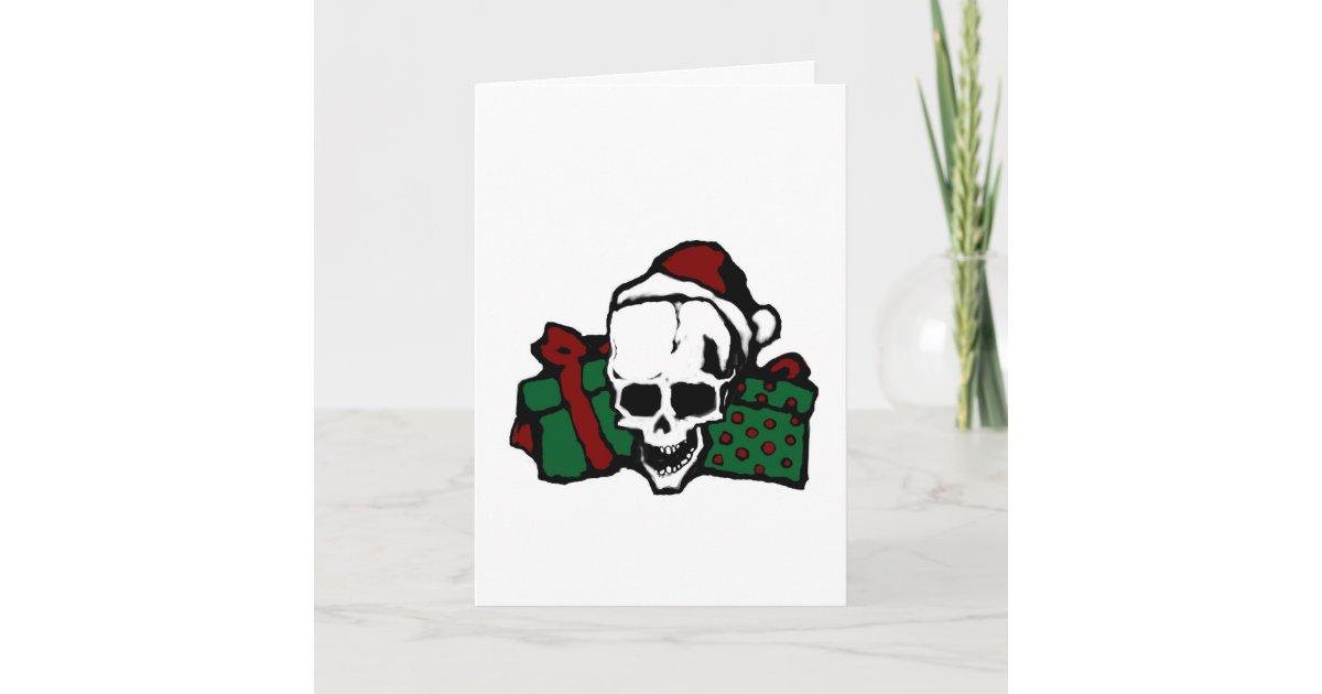Gothic Skull Christmas Cards | Zazzle.com