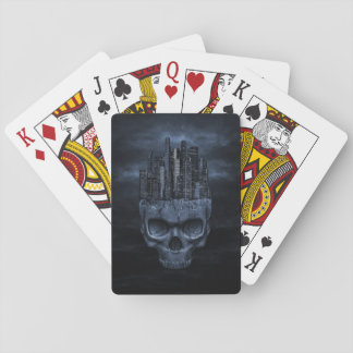 Gothic Skull City Playing Cards