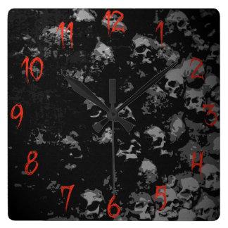 Gothic Skull Clock