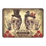 "Gothic Skull Couple Day of The Dead Wedding Invite 5"" X 7"" Invitation Card"