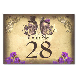 Gothic Skull couple deadly beautiful table cards