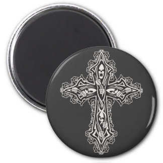 Gothic Skull Cross Magnet
