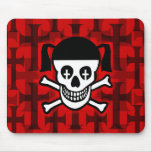 Gothic Skull & Crosses Mouse Mat