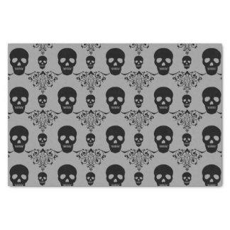 """Gothic Skull Damask 10"""" X 15"""" Tissue Paper"""