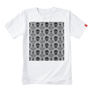 Gothic Skull Damask Zazzle HEART T-Shirt