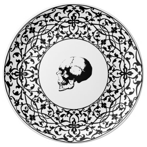 Gothic Skull Decorative Plate