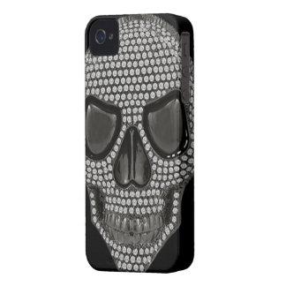 Gothic Skull Diamonds Print iPhone 4 Case-Mate Cases