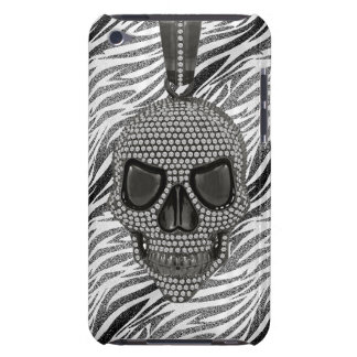 Gothic Skull Diamonds & Zebra Print iPod Touch Case-Mate Case
