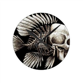 GOTHIC SKULL FISH ROUND WALL CLOCKS