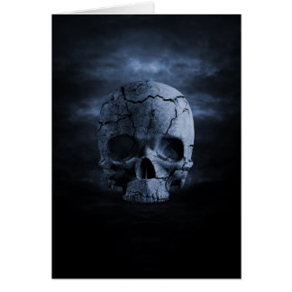 Gothic Skull Greeting Card