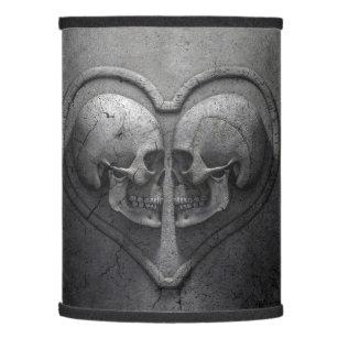 Gothic lamp shades zazzle gothic skull heart lamp shade aloadofball Image collections