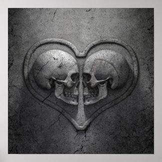 Gothic Skull Heart Poster