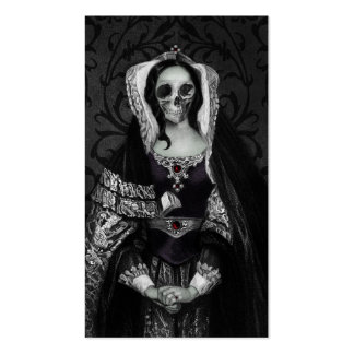 Gothic Skull Lady Double-Sided Standard Business Cards (Pack Of 100)