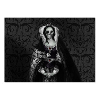 Gothic Skull Lady Large Business Card