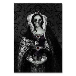 Gothic Skull Lady Table Cards