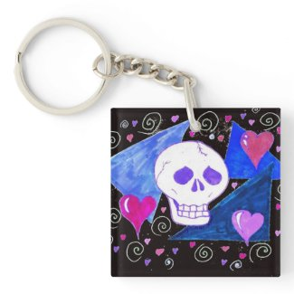 Gothic Skull (Original Version) by EelKat Keychain