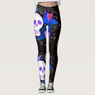 Gothic Skull (Original Version) by EelKat Leggings