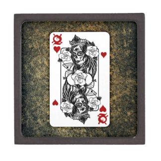 Gothic Skull Queen Playing Card Keepsake Box