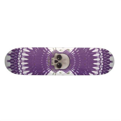 Gothic Skull Tribal Fractal Design: Skateboard #7