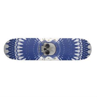 Gothic Skull Tribal Fractal Design: Skateboard #9