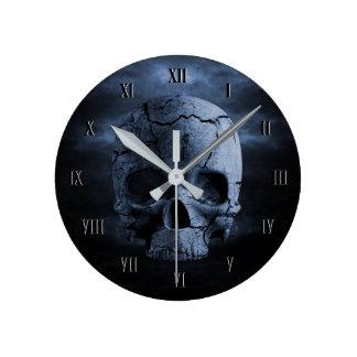 Gothic Skull Wall Clock