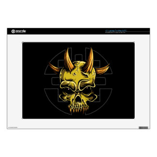 """Gothic Skull with Four Horns Skin For 15"""" Laptop"""