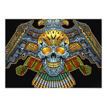 gothic,, skull,, skulls,, skeleton,, skeletons,, gun,, guns,, handguns,, bullets,, ammo,, al rio,, characters, Invitation with custom graphic design