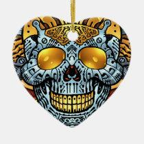gothic,, skull,, skulls,, skeleton,, skeletons,, gun,, guns,, handguns,, bullets,, ammo,, al rio,, characters, Ornament with custom graphic design