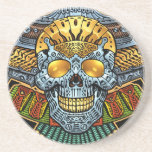 Gothic Skull with Guns and Bullets by Al Rio Coasters