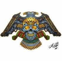 gothic,, skull,, skulls,, skeleton,, skeletons,, gun,, guns,, handguns,, bullets,, ammo,, al rio,, characters, Photo Sculpture with custom graphic design