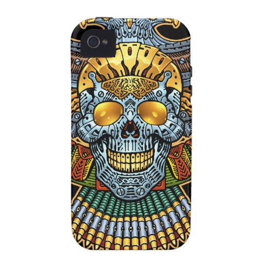 Gothic Skull with Guns and Bullets by Al Rio Vibe iPhone 4 Case