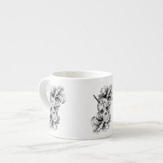 Gothic Skulls and Baroque Espresso Mug