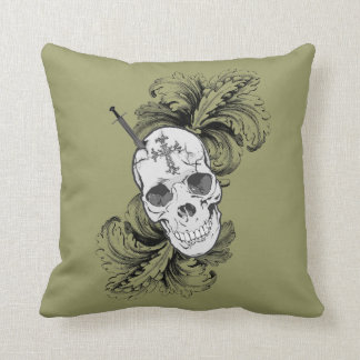 Gothic Skulls and Baroque Pillow