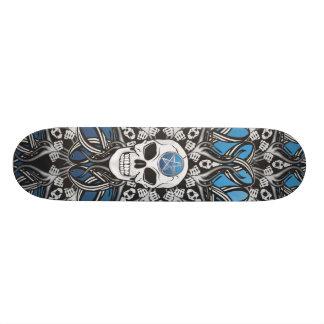 Gothic Skulls - Blue Skateboard